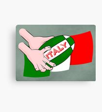 Italy Rugby Ball Flag Canvas Print