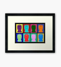 Weeping angels Pop Art Colour Framed Print