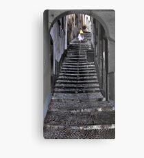 Walking up the stairs in Bellagio Metal Print