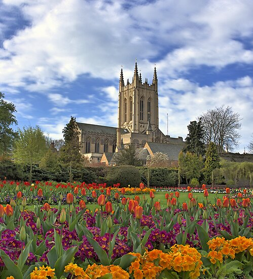 """Abbey gardens and cathedral Bury St Edmunds"" by Dale ..."