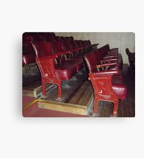 Old Theatre Seating. Canvas Print