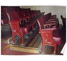 Old Theatre Seating. Poster