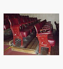 Old Theatre Seating. Photographic Print