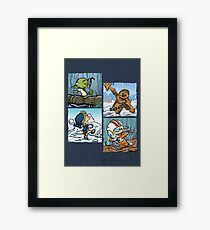 Playful Rebels Framed Print