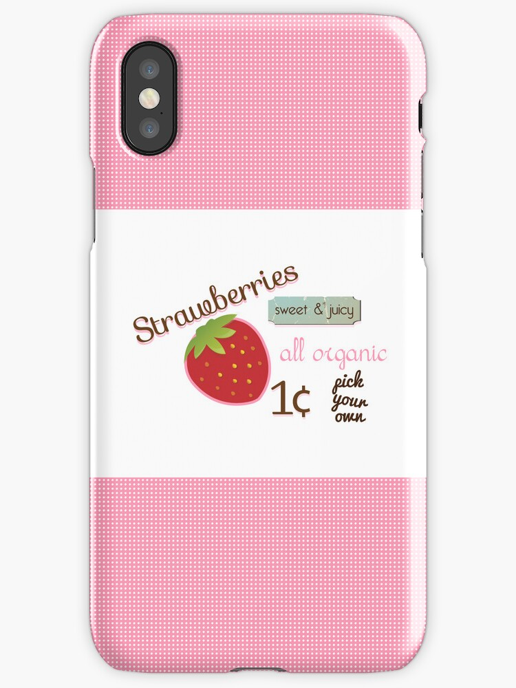 Vintage Strawberry iPhone Case by sweettoothliz