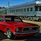 "1968 Mustang ""At the Station"" by TeeMack"