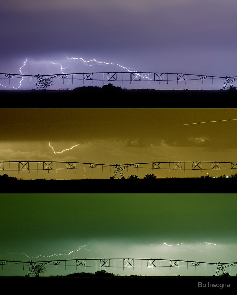 Lightning Warhol  Abstract by Bo Insogna