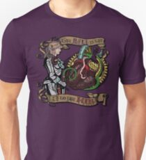 The Mind is the Key to the Heart (royal purple) Unisex T-Shirt