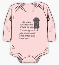 If You Are Uncomfortable Around My Dog One Piece - Long Sleeve