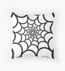 Spider Web Tunnel Throw Pillow