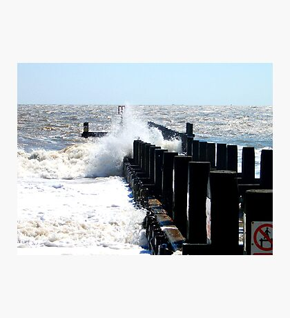 Explosions By The Groyne! Photographic Print