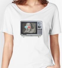 Shakespeare 3D T.V. Women's Relaxed Fit T-Shirt
