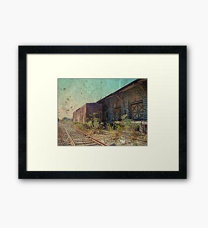 Disappearing Railroad Blues Framed Print