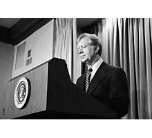 President Jimmy Carter Photographic Print