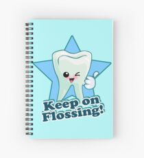 Cuaderno de espiral Dentista Dental Hygienist - Mantener el hilo dental