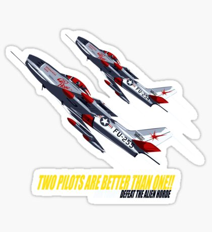 Two Pilots Are Better Than One - Wings Sticker