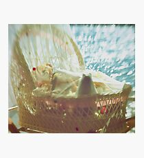 Bassinet with toys - vintage look Photographic Print