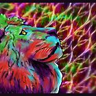 Colorful Lion by JBonnetteArt