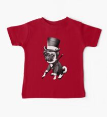 Pug Fred Astaire Baby Tee