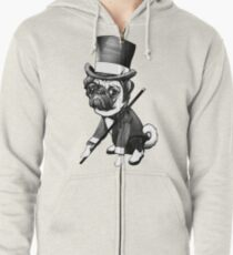 Pug Fred Astaire Zipped Hoodie