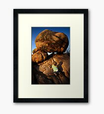 Rock Toddler Framed Print