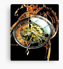 Analog > Digital Steampunk watch gears Canvas Print