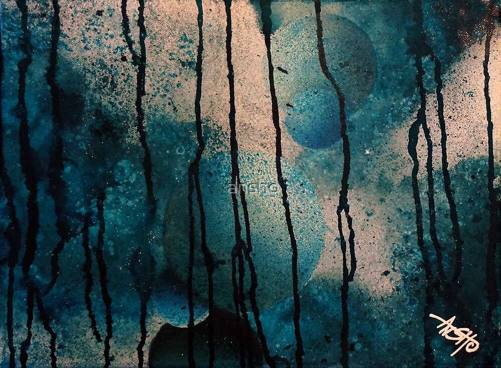 Blue spheres and tears III von ansho