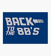 Back To The 80's Photographic Print
