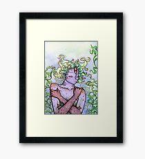 Slumbering Sea Goddess Framed Print