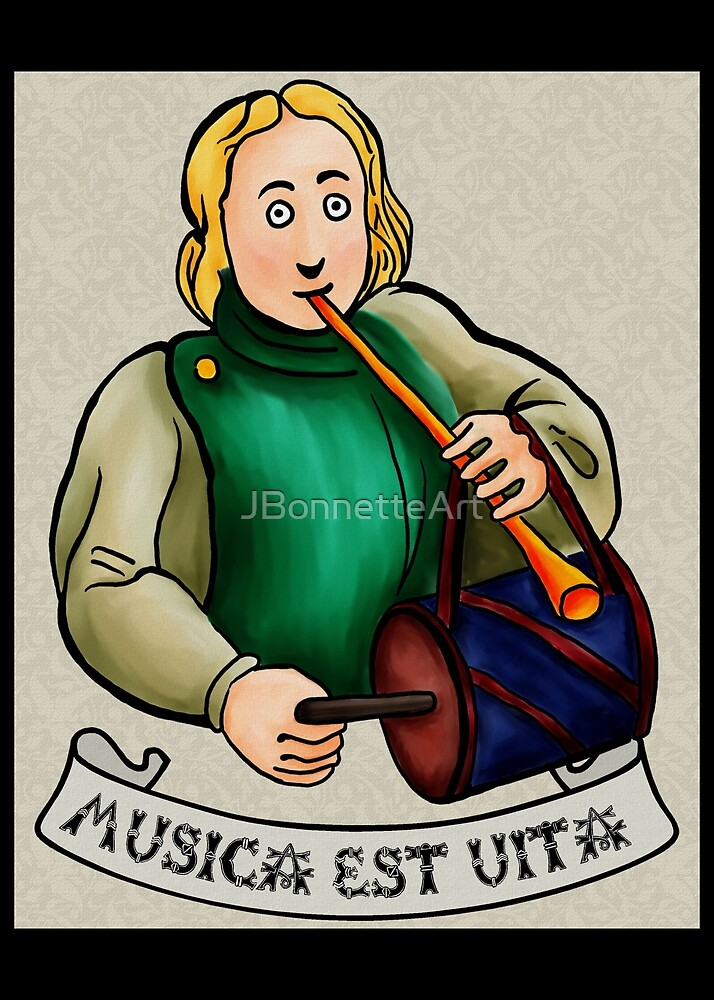 Medieval Musician-Drum V.2 by JBonnetteArt