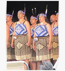 Female Maori Dancers Poster