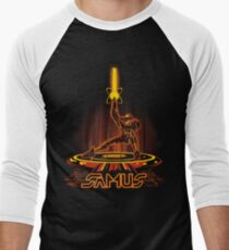 SAMTRON Men's Baseball ¾ T-Shirt