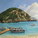 The Boats of Paleokastritsa by kirilart