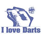 I Love Darts by Mental Itch
