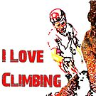 I Love Climbing by Mental Itch