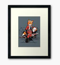 Rebel Fox Framed Print