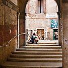 Beggar in Venice by John Lines