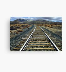 Hear that train a commin? Canvas Print