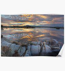 Sundown Willow Lake Poster