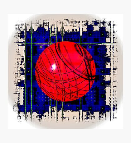 Red & Blue Photographic Print