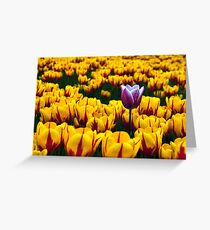 Tulips in the Valley  Greeting Card