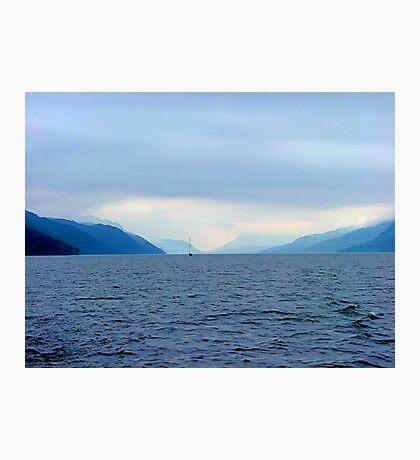 INTO THE DAWNS LIGHT,  LOCH NESS, SCOTLAND..........! Photographic Print