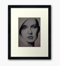 Charcoal experiment #6 Framed Print