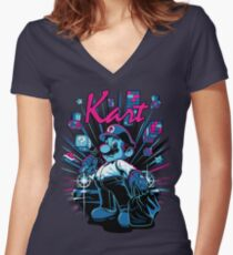 Kart Women's Fitted V-Neck T-Shirt