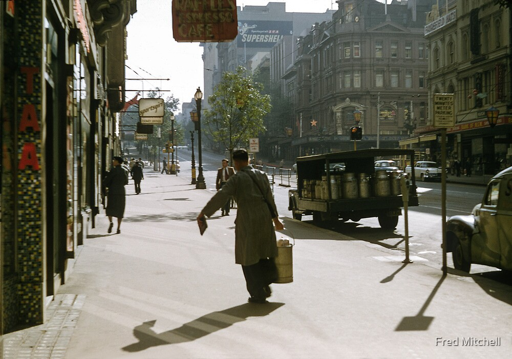 Collins Street Milkman 19580102 0000 by Fred Mitchell