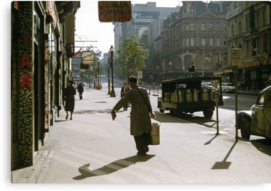 Collins Street Milkman 19580102 0000 by Fred Mitchell