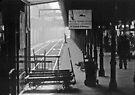 195809030013 Princes Bridge Station BW by Fred Mitchell