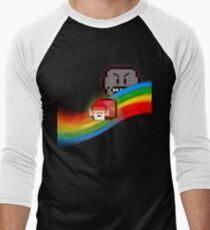 NyanGnome Men's Baseball ¾ T-Shirt