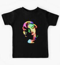 Marilyn Monroe Rainbow Colors  Kids Tee