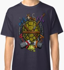 Turtle Family Crest - Full Color Classic T-Shirt